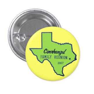 cimrhanzelTshirtTEXASgreen 3 Cm Round Badge