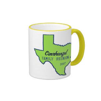 cimrhanzelTshirtTEXASgreen Ringer Mug