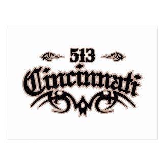 Cincinnati 513 postcard