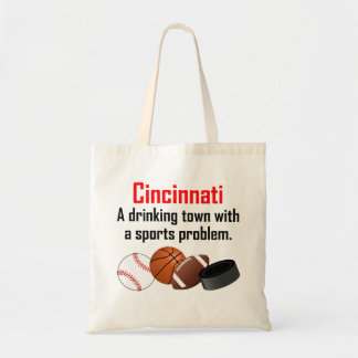 Cincinnati A Drinking Town With A Sports Problem Canvas Bags