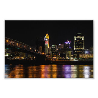 Cincinnati by Night Photo Art