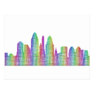 Cincinnati city skyline postcard