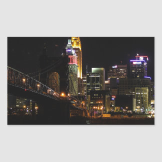 Cincinnati Cityscape Rectangular Sticker