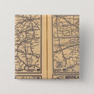 Cincinnati, Detroit, Indianapolis 15 Cm Square Badge
