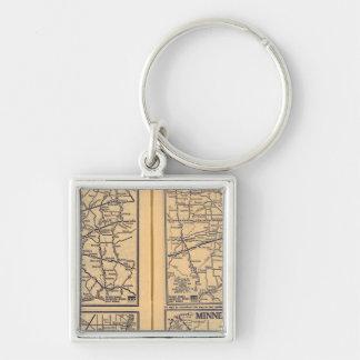 Cincinnati, Detroit, Indianapolis Key Ring