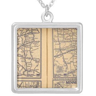 Cincinnati, Detroit, Indianapolis Silver Plated Necklace