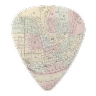 Cincinnati Map by Mitchell Acetal Guitar Pick