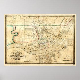Cincinnati, Ohio 1838 Poster