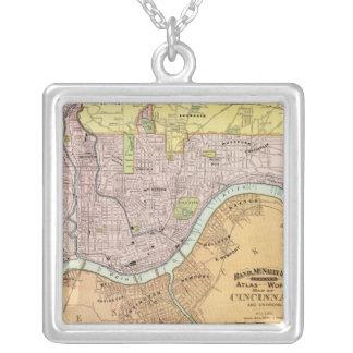 Cincinnati, Ohio 2 Silver Plated Necklace