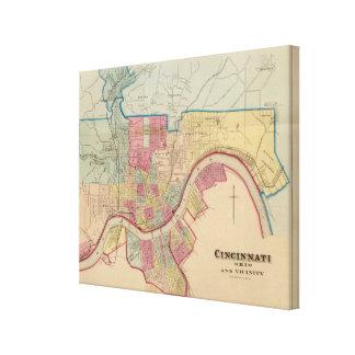 Cincinnati, Ohio and vicinity Canvas Print