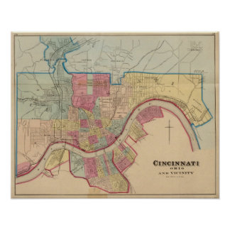 Cincinnati, Ohio and vicinity Print