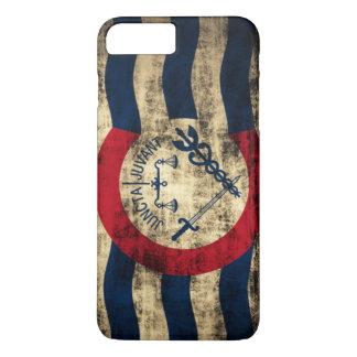 Cincinnati Ohio Grunge Flag iPhone 7 Plus Case