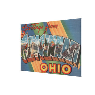Cincinnati, Ohio - Large Letter Scenes Canvas Print