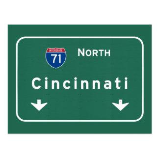 Cincinnati Ohio oh Interstate Highway Freeway : Postcard