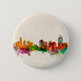 Cincinnati Ohio Skyline Cityscape 6 Cm Round Badge