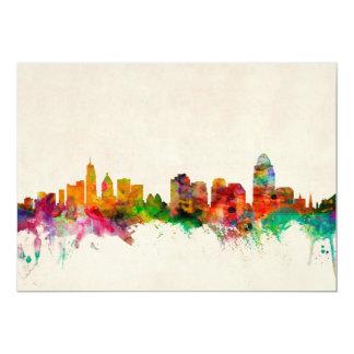 Cincinnati Ohio Skyline Cityscape Card