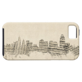 Cincinnati Ohio Skyline Sheet Music Cityscape iPhone 5 Cases