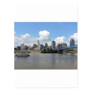 Cincinnati, Ohio skyline with the Ohio River Postcard
