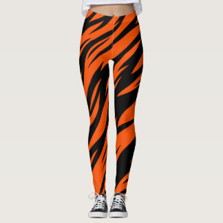 CINCINNATI OHIO TIGER ORANGE LEGGINGS