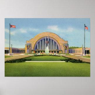 Cincinnati Ohio Union Terminal Poster