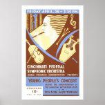 Cincinnati Orchestra 1939 WPA Print
