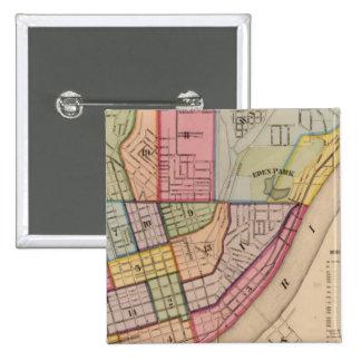 Cincinnati outline ,Ohio 15 Cm Square Badge