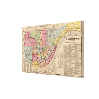 Cincinnati outline ,Ohio Canvas Print