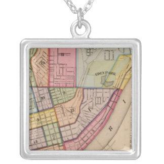 Cincinnati outline ,Ohio Silver Plated Necklace