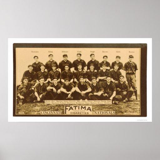 Cincinnati Reds Baseball 1913 Poster