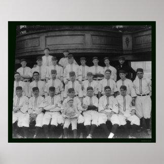 Cincinnati Reds Baseball Team 1910 Poster