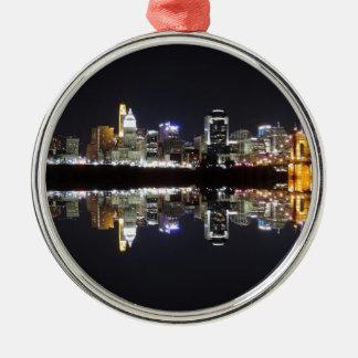Cincinnati Reflection Silver-Colored Round Decoration