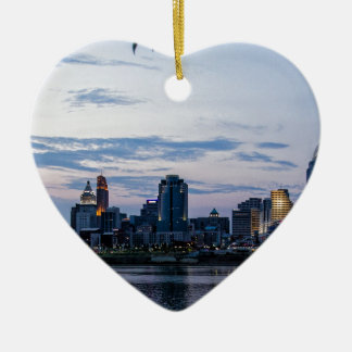 Cincinnati Sky Line Christmas Ornament