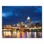 Cincinnati Skyline at Night Art Photo