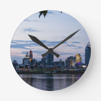 Cincinnati Skyline Round Clock