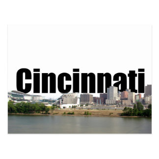 Cincinnati Skyline with Cincinnati in the Sky Postcard
