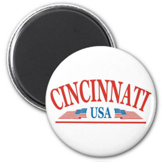 Cincinnati USA 6 Cm Round Magnet