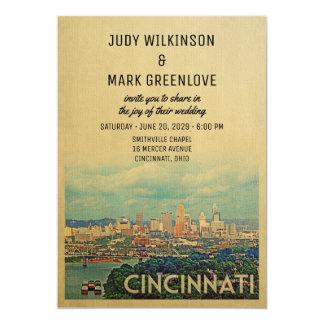 Cincinnati Wedding Invitation Vintage Mid-Century