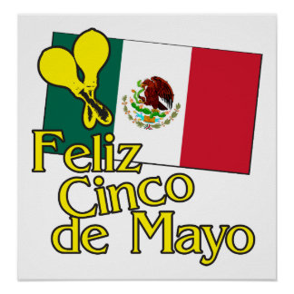 Cinco de Flag Poster