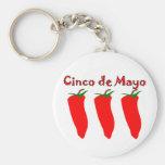 Cinco de Mayo 3 Peppers Key Chain