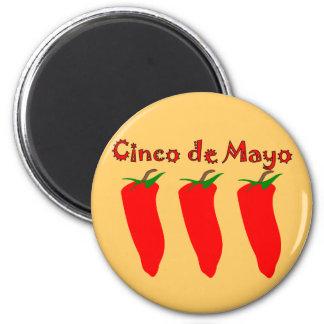 Cinco de Mayo 3 Peppers Refrigerator Magnets