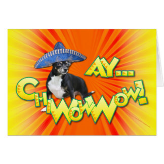 Cinco de Mayo - Ay ChWowWow! - Chihuahua Greeting Card