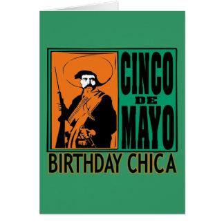 Cinco de Mayo Birthday Chica Card