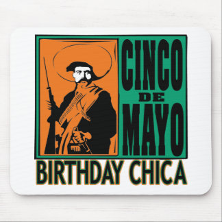 Cinco de Mayo Birthday Chica Mouse Pad