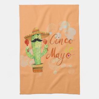 Cinco De Mayo Cactus Tea Towel