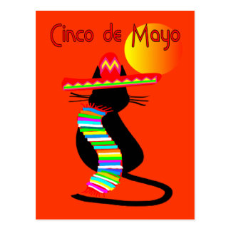 Cinco de mayo CAT Design--Adorable Postcards