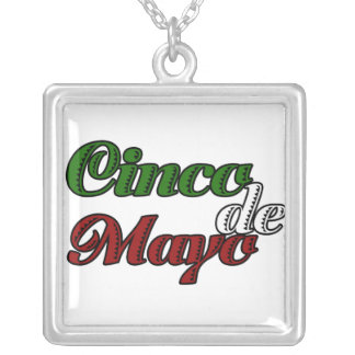 Cinco De Mayo Celebration Square Pendant Necklace
