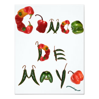 Cinco de Mayo Chili Peppers 11 Cm X 14 Cm Invitation Card