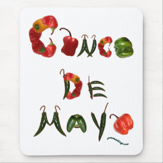 Cinco de Mayo Chili Peppers Mouse Pad