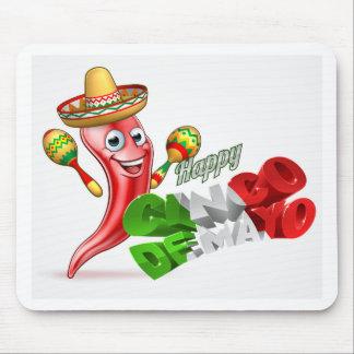 Cinco De Mayo Chilli Pepper Design Mouse Pad