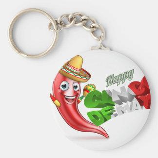 Cinco De Mayo Chilli Pepper Poster Design Key Ring